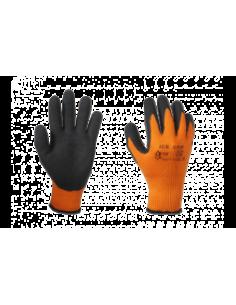 Kootud oranž sõrmik must kummipeopesa 9 suurus